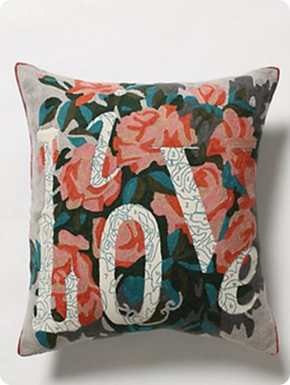 anthro live love pillow