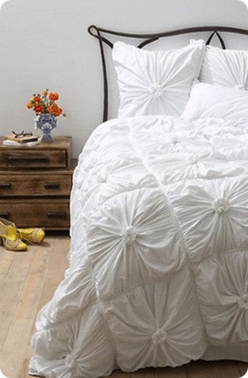 anthro rosette bedding