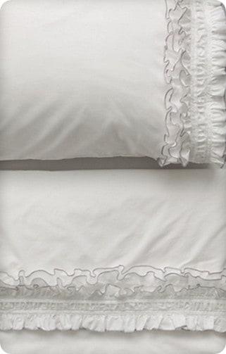 anthro ruffled sheet set