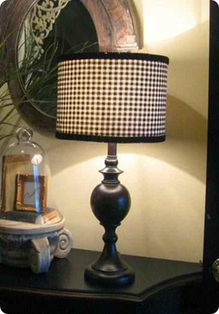 ballard inspired black and white fabric lampshade