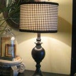 Black and White Fabric Lampshade
