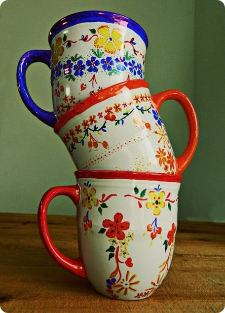 DIY Crafts ~ Anthropologie Knock Off Sharpie Art Mugs