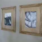 diy burlap matting and upcycled frame