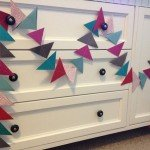 diy paper triangle garland
