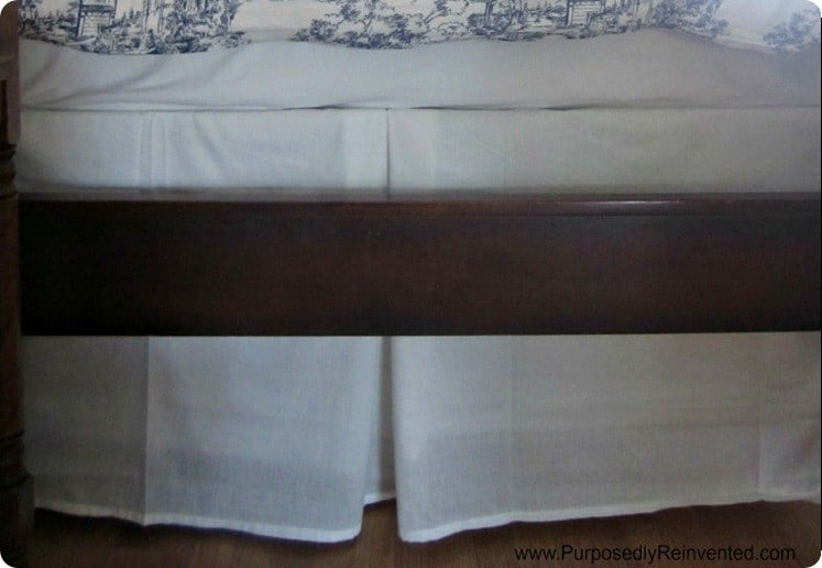 diy pleated safety pin bedskirt from sheet