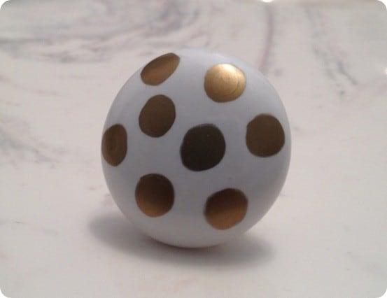 gold polka dot knob