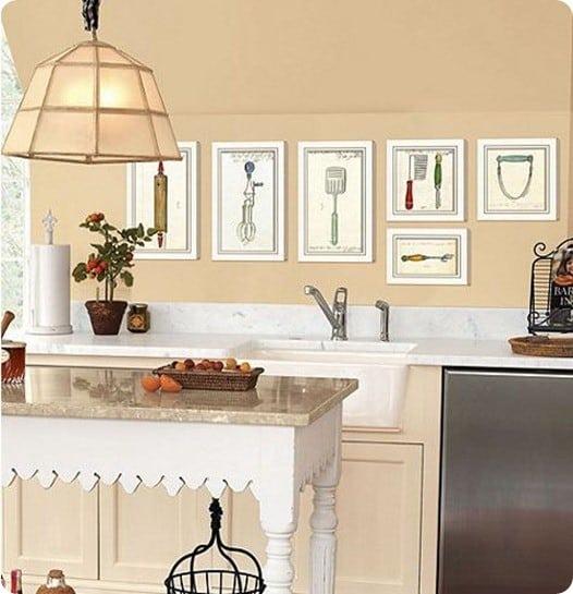 Retro Kitchen Artwork: Vintage Kitchen Utensil Art