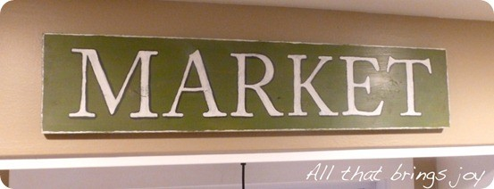 market sign inspired by pottery barn