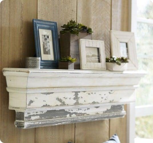 Distressed Mantel Shelf