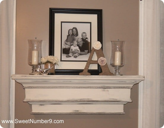 Distressed Mantel Shelf
