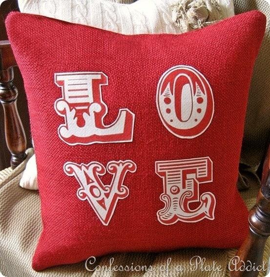 pb inspired love pillow
