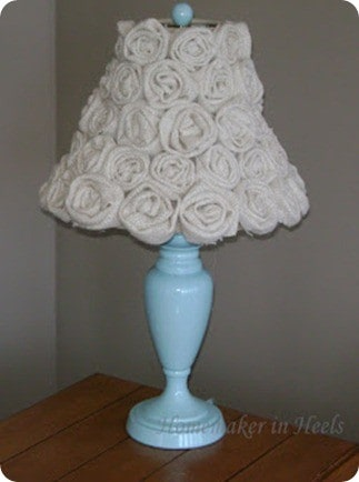 pb kids inspired rosette lampshade