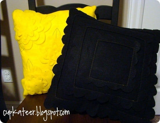 pb teen inspired felt pillows