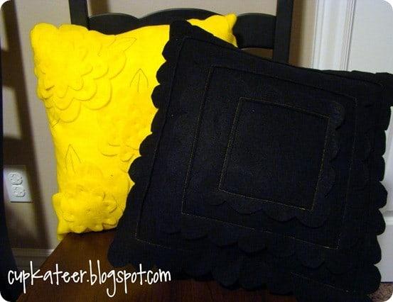 pb teen inspired felt pillows