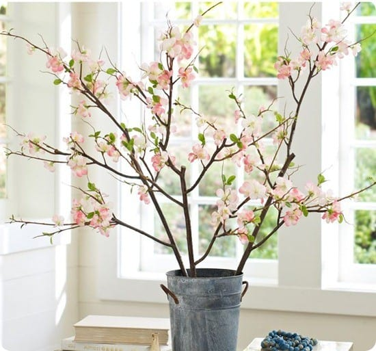 pottery barn faux quince branch
