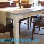Faux Zinc Dining Table