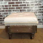 Reupholstered Deconstructed Ottoman