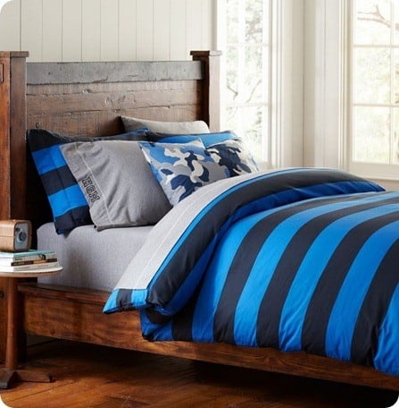 rugby stripe duvet cover