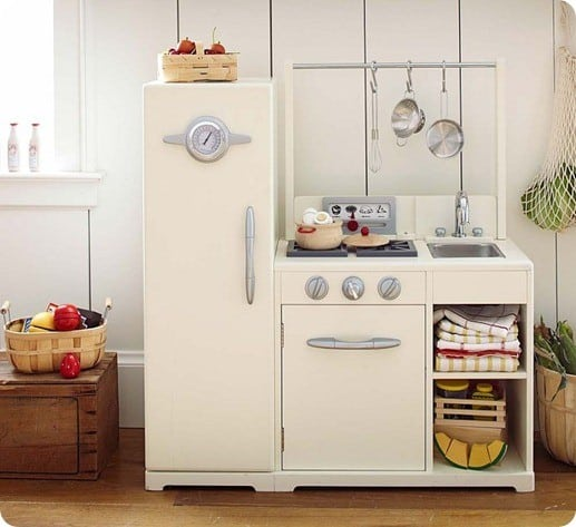 simply white retro play kitchen