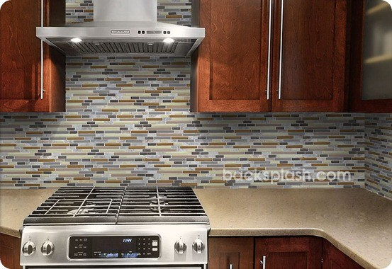 Slate And Glass Backsplash Tiles Home Design