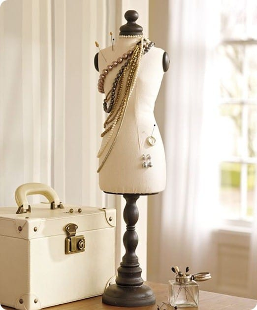 Mannequin Bust Jewelry Holder