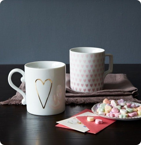 west elm heart mug