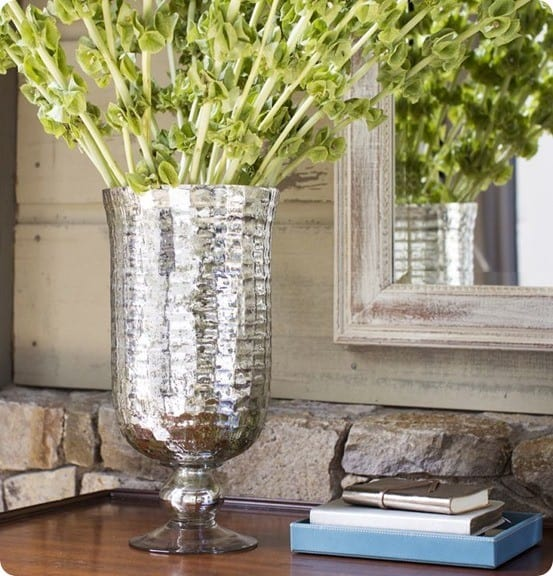 Footed Mercury Glass Vase from Pottery Barn