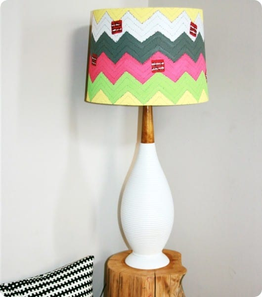 anthro chevron lamp shade