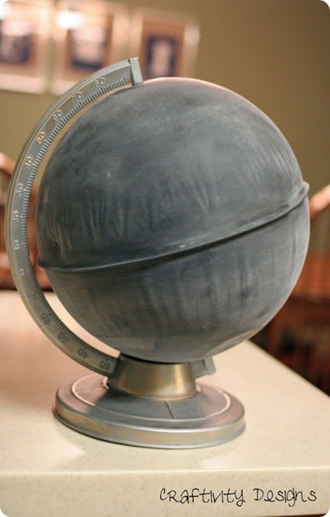 anthro inspired chalkboard globe