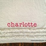 Applique Ruffle Towel