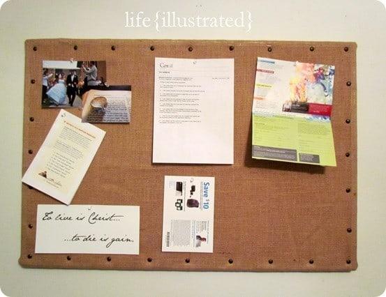 ballard knock off burlap message board