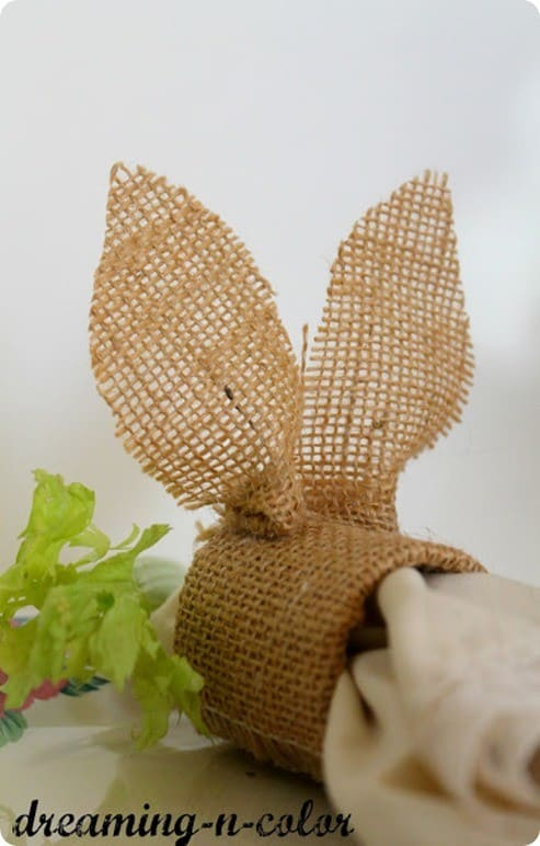 burlap bunny napkin rings for easter