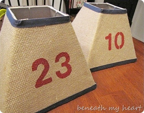 burlap lampshades like pottery barn kids