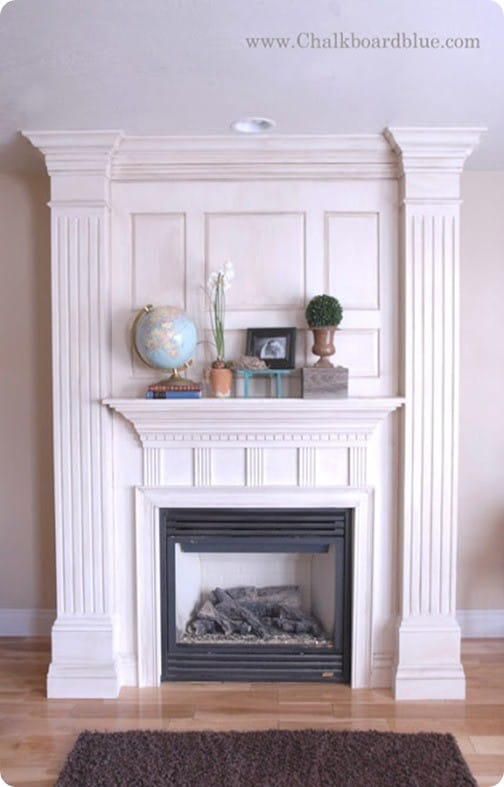 custom built fireplace