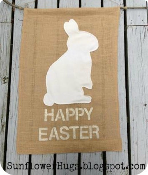 diy pb burlap easter flag