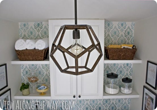 dodecahedron faceted light fixture