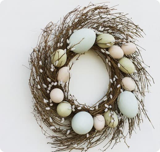 faux pussy willow twig wreath
