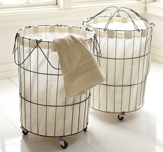 Rolling Wire Hamper