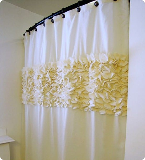 flower petal shower curtain. Black Bedroom Furniture Sets. Home Design Ideas