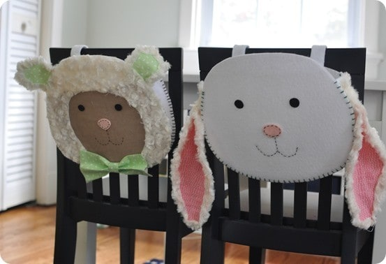 pottery barn kids inspired easter chair backers
