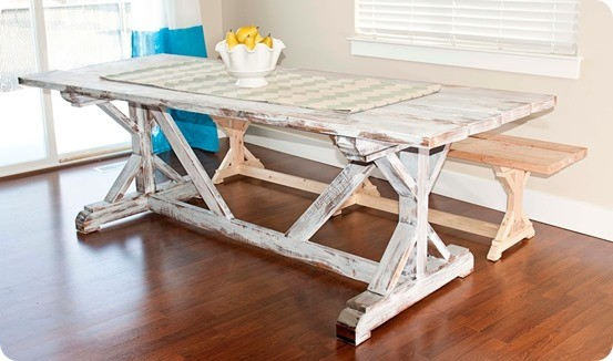 rh inspired trestle table