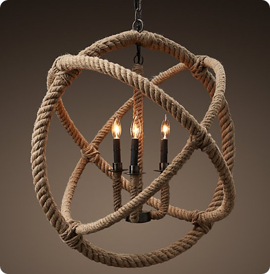 rope planetarium chandelier