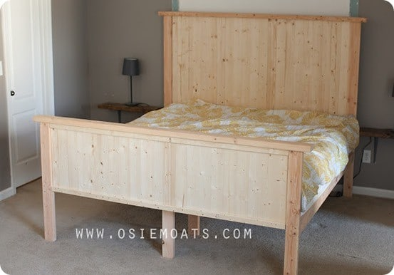 west elm inspired stria bed