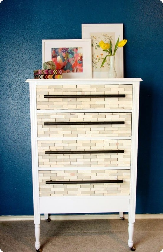 west elm inspired wood tile dresser