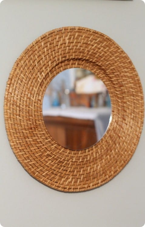 woven mirror from plate charger
