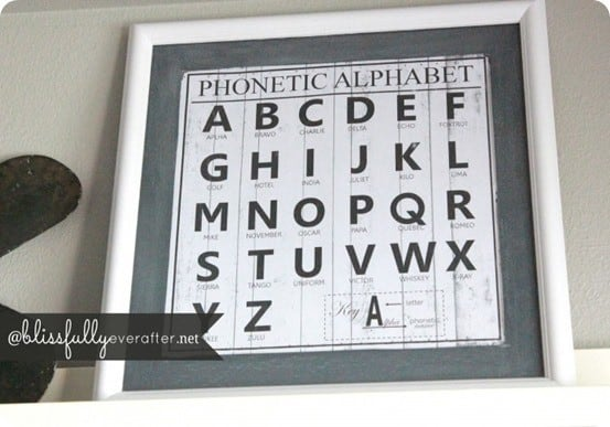 DIY phonetic alphabet printable wall art - a RH Baby & Child knock off