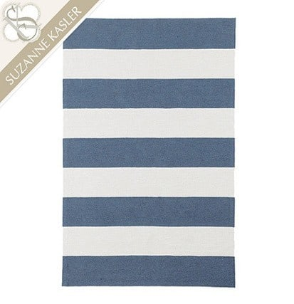Suzanne Kasler Wide Stripe Indoor Outdoor Rug