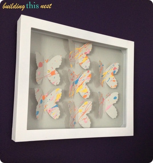 butterfly shadow box art inspired by ikea