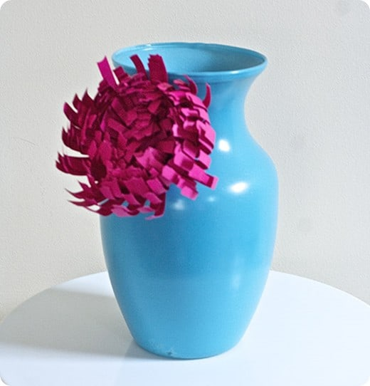 chrysanthemum vase inspired by anthropologie