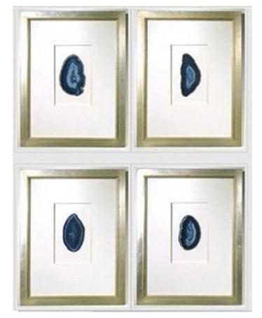 custom framed agates from quatrefoil designs